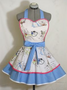Disney Inspired Princesses Pin Up Apron by AquamarCouture on Etsy