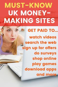 The BEST UK money making sites: Make money online with these GPT (get paid to) sites that pay you to watch videos, search the web, sign up for offers and more, Way To Make Money, Make Money Online, Matched Betting, Amazon Card, Survey Companies, Extra Cash, How To Get Rich, Work From Home Jobs, About Uk