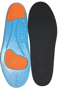 ComfortGear Extra Thick Athletic Insoles - Diabetic Foot Support, Foot Arch support, Heel Spur, Foot Pain Relief, Shock Absorption, Neutrel Pronation (Men's 7-12 Ladies' 8.5-13.5, Blue) -- Check out the image by visiting the link.