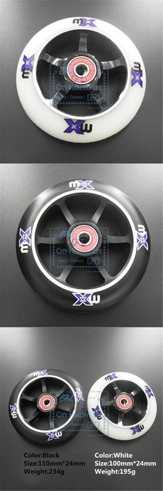 [Visit to Buy] 110mm 100mm Scooter Wheels Aluminium Alloy Steel Wheel Hub High Elasticity and Precision speed skating wheel #Advertisement