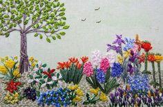 Stitching Idyllic: Spring Flowers by Ann Bernard