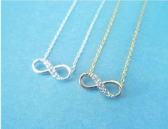 Cute, Infinity Forever, Gold or Silver, Necklace | simplecrystal - Jewelry on ArtFire