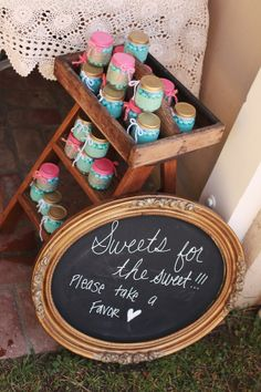Cute love the frame chalk board sign (could use for her room later :)
