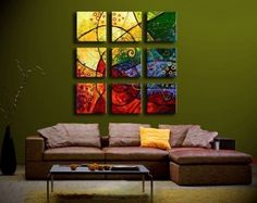 Modern Oil Painting on Canvas Stretched Framed with Wooden Frame - Impression by supercooldecor, http://www.amazon.com/dp/B0048CAR7M/ref=cm_sw_r_pi_dp_bRnIpb0DNHKR8