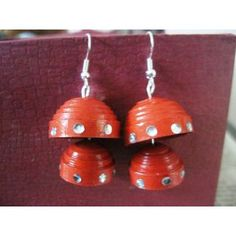 5ab1e89f316e Buy Red double layered jhumka Online in India - 86257202 - ShopClues.com  Paper Quilling