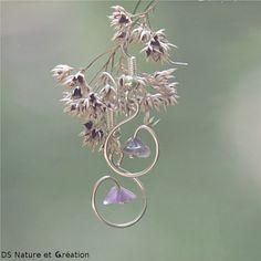 Earrings amethyst, healing crystals and stones earrings, natural purple amethyst gemstone jewelry, handmade earrings, genuine amethyst jewel https://www.etsy.com/shop/DSNatureetCreation
