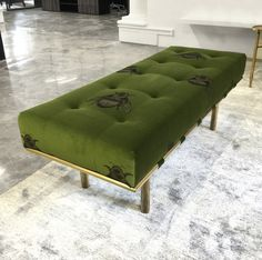 Elliot James Opulence day bed upholstered in Timorous Beasties 'Napoleon Bee'…                                                                                                                                                                                 More