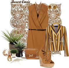"""""""desert"""" by jess-leonie ❤ liked on Polyvore"""