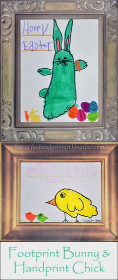 Handprint & Footprint Easter Drawings