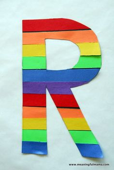 letter R is for Rainbow - preschool/pre-K craft - do with either uppercase or lowercase.