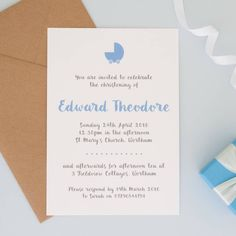 Personalised Christening Or Naming Ceremony Invitations  Naming