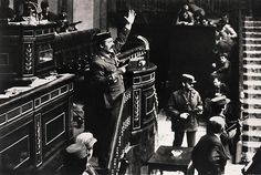 World Press Photo of year 1981. Autor Manuel Pérez Barriopedro. (Colonel Antonio Tejero Molina leads a session of the Spanish Parliament suspended for a coup. The deputies were held hostage for 18 hours until finally, the coup failed)
