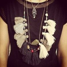this necklace with tassels is so pretty