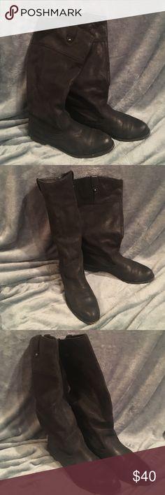 OTBT Petaluma Riding boots-new black. SZ 10 Beautiful black OTBT Petaluma riding boots in good condition. Classic, must have style! OTBT Shoes