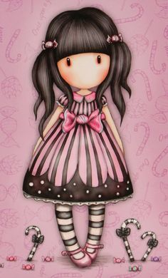 This is a brand's character. Cute Images, Cute Pictures, Painting For Kids, Art For Kids, Kawaii, Holly Hobbie, Copics, Cute Dolls, Doll Face