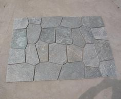 Stone Mats | Crazy Paving Stone | Matted Flagstone | Flooring Stone - Stone Panel Systems Made Easy