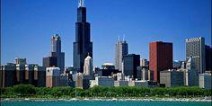 City skyline from Lake Michigan