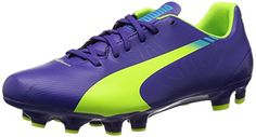 Puma Kinder Fußballschuhe evoSPEED 5.3 FG Jr 103120 32.5 prism violet-fluro yellow - http://on-line-kaufen.de/puma/uk-13-5-eu-32-5-puma-evospeed-5-3-fg-jr-unisex-kinder