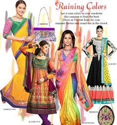 #RainingColors #Summerfashion #indianethnicwear #Vibrant #Sonakshisinha #embellishedclutches #satyapaul #Anarkalis
