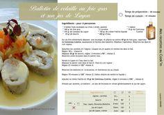 Recette au Cook'in : Ballotin de foie gras et son jus de Layon
