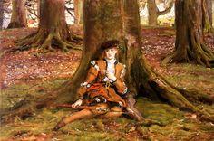 Rosalind In The Forest  Sir John Everett Millais