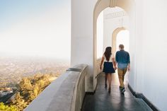 Armina & Elijah's Griffith Park Observatory Engagement Shoot