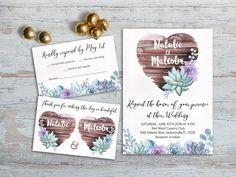Rustic Wedding Invitation Printable Wedding Invitation by lipamea
