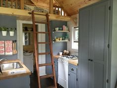 Galley Kitchen - Wanigan by Burrow Tiny Homes