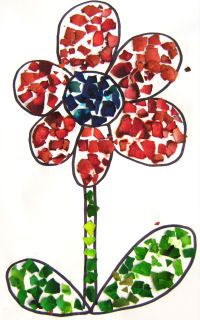 Preschool Crafts for Kids*: Eggshell Collage Craft