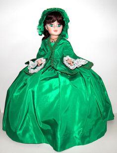 "Madame Alexander SCARLETT 21"" Portrait Doll Taffeta Gone with the Wind curtain  #madameAlexander #Dolls"