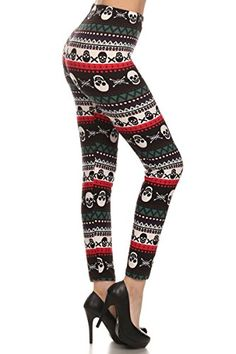 Leggings Depot Dreamy Dark Christmas Holiday Leggings N308 Nightmare Before Christmas >>> Click image for more details.(This is an Amazon affiliate link and I receive a commission for the sales)
