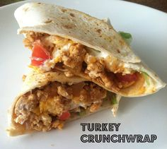 Ground Turkey Crunchwrap:  This is so simple a recipe isn't really necessary -- just do a soft turkey taco and add chips, waalaa.  But, everyone liked it, and if I have a case of demensia where I need to remember how to make them it's nice to have this available.