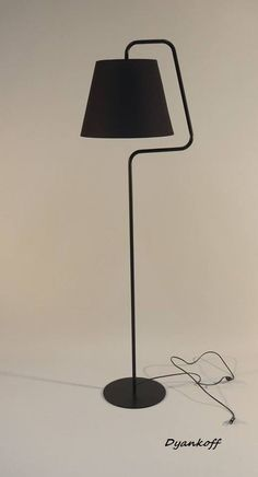 Handmade floor lamp with empire lampshade made by DyankoffShop