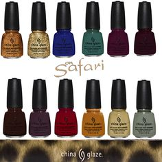 Hey @manchelster, look at this China Glaze On Safari Collection!