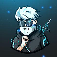 Logo Free, Gaming Logo, Creative Profile Picture, Cute Black Wallpaper, Logo Character, Team Logo Design, Avatar Cartoon, Dope Cartoon Art, Applis Photo