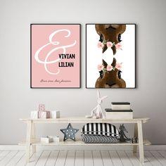 kaksoset, twins, sisters, bunny, kids room, posters, Finnish design, Scandinavian design Room Posters, Kids Room, Home Decor, Decoration Home, Room Decor, Kidsroom, Kid Rooms, Nursery, Interior Decorating
