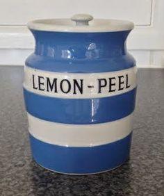 Lemon Peel ~ Cornishware jar.