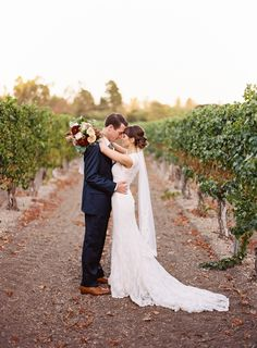 Photography : Michelle Warren Photography | Wedding Dress : Watters | Floral Design : Anna Le Pley Taylor Read More on SMP: http://www.stylemepretty.com/california-weddings/2015/05/16/lovely-santa-ynez-wedding-at-lincourt-vineyards/
