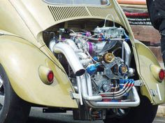 For the Love of All Things German and Air Cooled Weird Cars, Cool Cars, Crazy Cars, Bugs, Kdf Wagen, Hot Vw, Vw Engine, Vw Classic, Vw Group