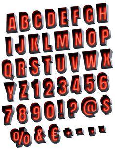 Еraffic light Font alphabet
