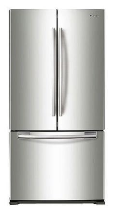 Samsung - 17.5 Cu. Ft. Counter-Depth French Door Refrigerator - Stainless Steel - Larger Front