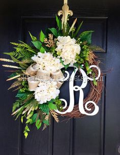 BEST SELLER! Fall Wreaths for Front Door, Front Door Wreaths, Fall Door Wreaths, Hydrange Wreath, Grapevine Wreath, Fall Wreaths