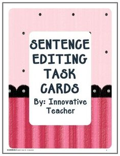 These task cards are prefect for morning work or even for centers activities. They have helped my students improve their spelling and writing skills.