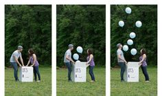 Announcing gender of baby. Cute for baby shower! Use to show all your friends and family, or maybe if mom and dad didn't know and let a close friend organize putting the balloons in the box! Baby Gender Announcements, Baby Surprise Announcement, Cute Baby Shower Gifts, Baby Gifts, Our Baby, Baby Baby, Gender Party, Baby Shower Gender Reveal, Baby Family