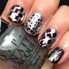 Mix & Match (2/2/16) OPI Push & Shove with  Black Cherry Chutney
