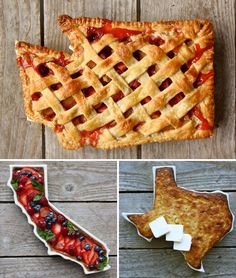 state shaped dishes...want it