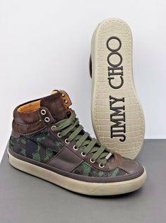 4f9ccd46bce NIB Jimmy Choo Mens Belgravia Green Camo Glitter High-Top Sneakers 6 39  ( 765)  JimmyChoo  FashionSneakers