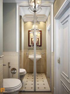 Санузел в английском стиле / bathroom / bathroom decor / bathroom ideas / by Pevel Polinov Studio #design #interior #homedecor #interiordesign