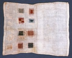 Darning Sampler (unfinished), mid-19th century