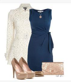 Women's dress outfit idea